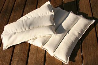 Tuto couture : bouillotte en graines de lin